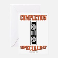 Completion Specialist Greeting Card,Oil,Gas