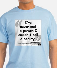 Warhol Beauty Quote T-Shirt
