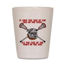 Lacrosse DogFight Shot Glass