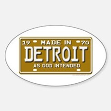 Made in Detroit Oval Decal