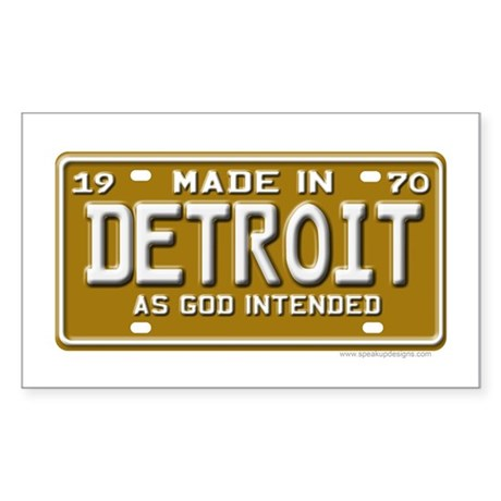 Made in Detroit Rectangle Sticker