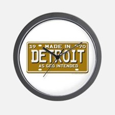 Made in Detroit Wall Clock