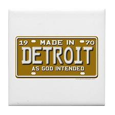 Made in Detroit Tile Coaster