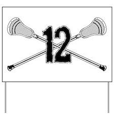 Lacrosse Number 12 Yard Sign