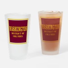 Washington District of Columbia Drinking Glass