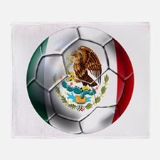 Futbol Mexicano Throw Blanket