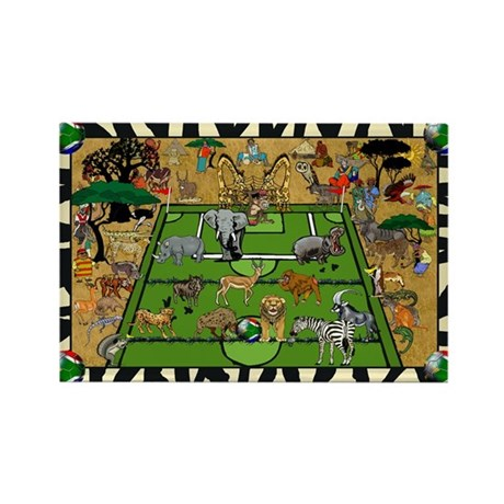 Soccer Safari Rectangle Magnet
