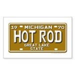 Hot Rod License Plate Rectangle Sticker