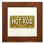 Hot Rod License Plate Framed Tile
