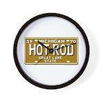 Hot Rod License Plate Wall Clock