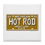 Hot Rod License Plate Tile Coaster