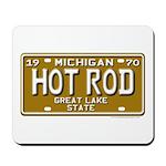 Hot Rod License Plate Mousepad