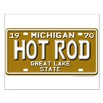 Hot Rod License Plate Small Poster