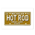 Hot Rod License Plate Postcards (Package of 8)