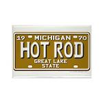 Hot Rod License Plate Rectangle Magnet