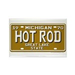 Hot Rod License Plate Rectangle Magnet (10 pack)