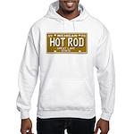Hot Rod License Plate Hooded Sweatshirt