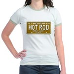 Hot Rod License Plate Jr. Ringer T-Shirt