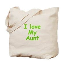 I Love My Aunt Tote Bag