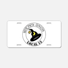 Witches Union Aluminum License Plate