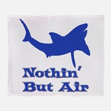 Leaping Great White Throw Blanket