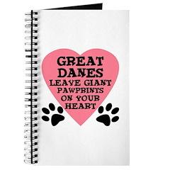Great Dane Pawprints Journal