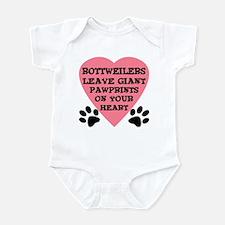 Rottweiler Pawprints Infant Bodysuit