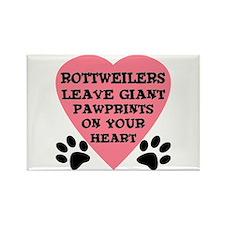 Rottweiler Pawprints Rectangle Magnet