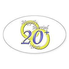 """Twentieth Anniversary"" Oval Decal"