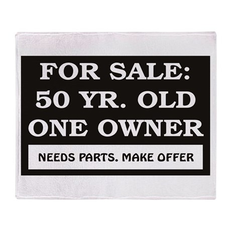 For Sale 50 Year Old Birthday Throw Blanket