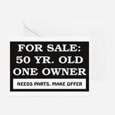 For Sale 50 Year Old Birthday Greeting Card