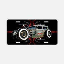 Pinstripe RAT Aluminum License Plate
