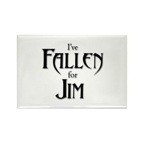 I've Fallen for Jim Rectangle Magnet