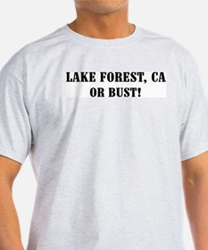 Lake Forest or Bust! Ash Grey T-Shirt