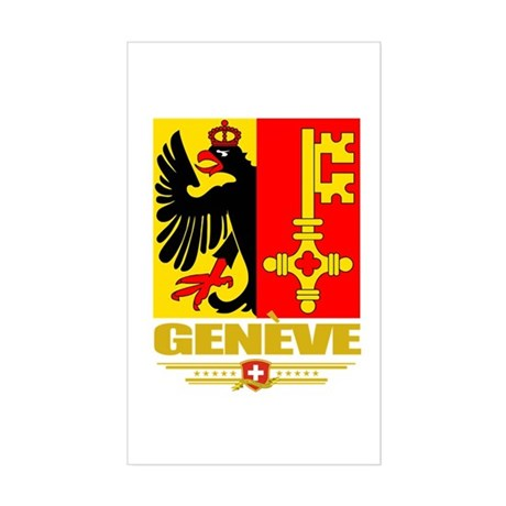 Geneve/Geneva Sticker (Rectangle)