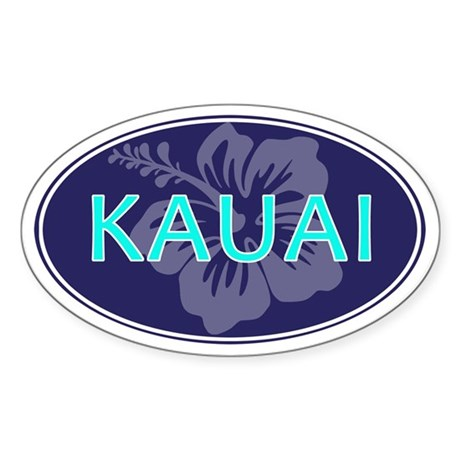 KAUAI, HAWAII - Sticker (Oval)