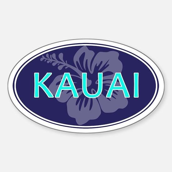 KAUAI, HAWAII - Sticker (Oval)