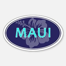 MAUI, HAWAII - Sticker (Oval)