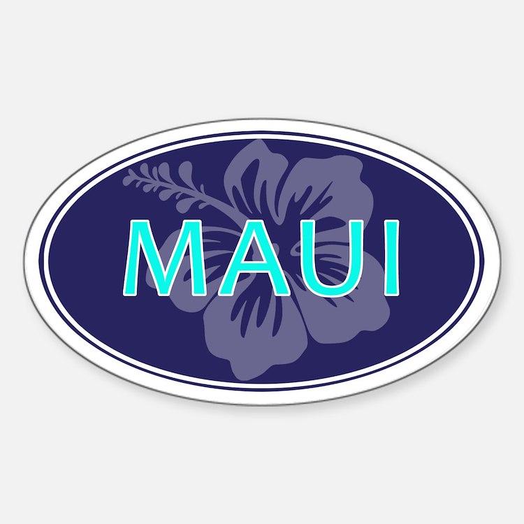 MAUI, HAWAII - Sticker (Oval)