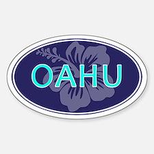 OAHU, HAWAII - Sticker (Oval)