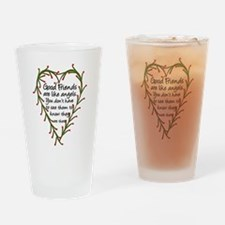 Cute Angels Drinking Glass