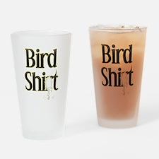 Bird Shit Drinking Glass