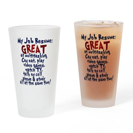 Slackers Job Resume Drinking Glass