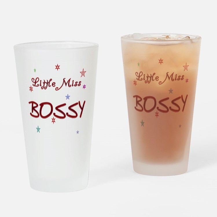 Miss Bossy Drinking Glass