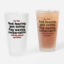 Cool Anti south Drinking Glass