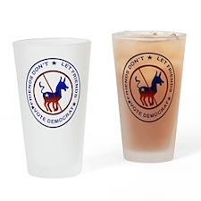 Anti Democrat Drinking Glass