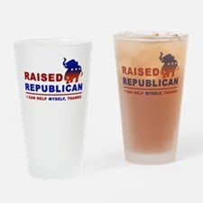 Raised Republican Drinking Glass