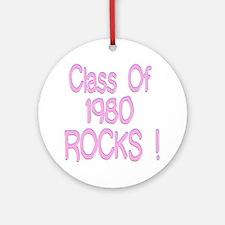 1980 Pink Ornament (Round)