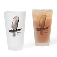 Moluccan Cockatoo Drinking Glass
