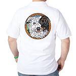 Skeeter's Tri Golf Shirt, back image